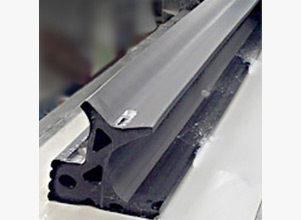 Extruded Rubber Profiles For At Grade Railroad Crossings
